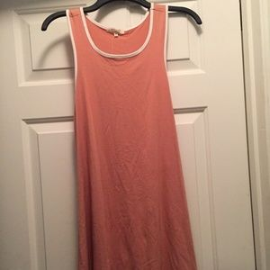 NWT HEART & HIPS PEACH TANK DRESS MEDIUM